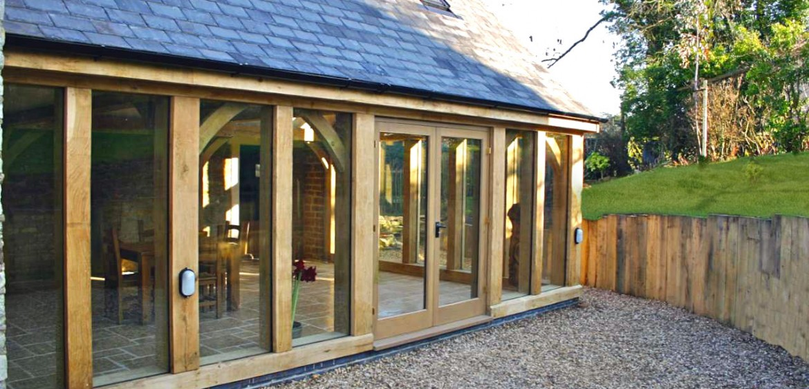 Oak framed extension archives natural structures for Oak framed garden room
