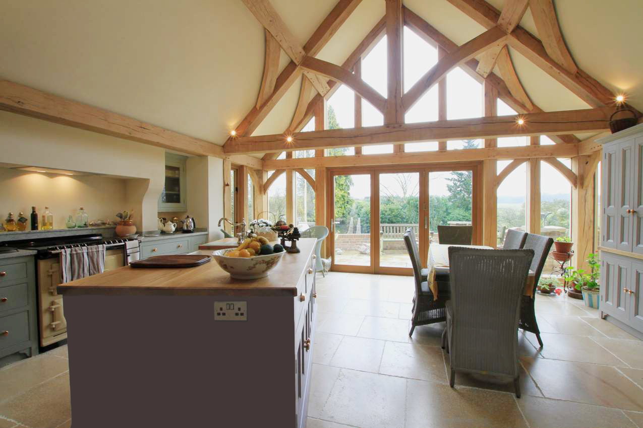 garage barn ideas - Oak Framed House Stone & Oak Extensions Natural Structures