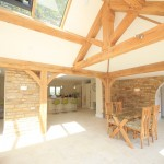 Oak frame Stone Barn renovation