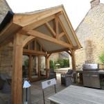 air dried oak frame house