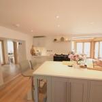 kitchen in oak frame house
