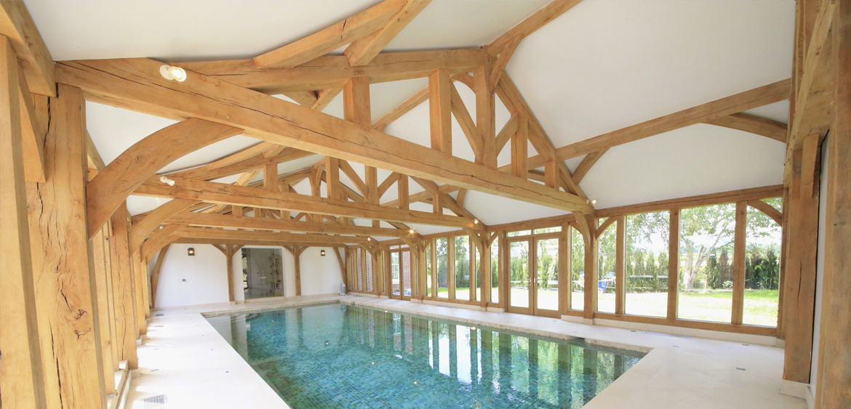 Pool House Oak Frame Natural Structures