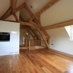 oak cruck truss frame