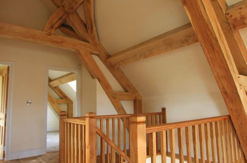 oak cruck truss frame