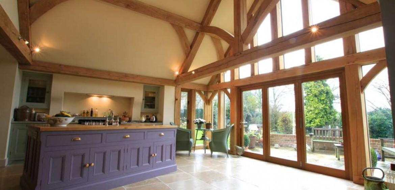 Oak Framed House Stone Amp Oak Extensions Natural Structures