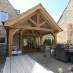 air dried oak frame house