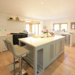 kitchen in oak frame house