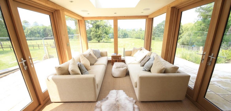 interior of glazed oak extension