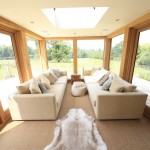 interior of glazed oak extension