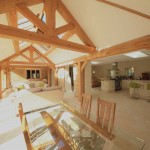 oak framed stone barn
